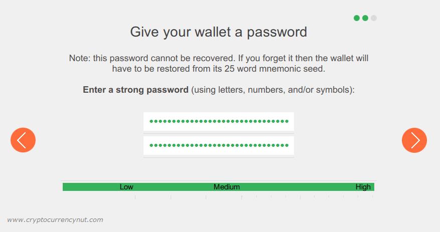 monero wallet password