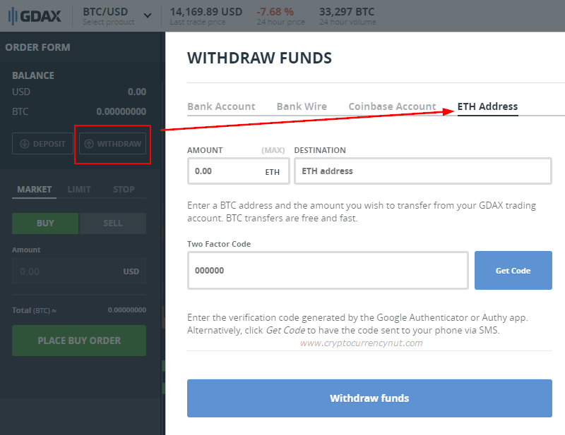 buy ripple withdraw funds gdax
