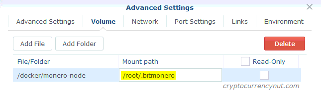 synology docker monero volume mount path